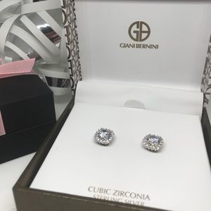 Giani Bernini cubic zirconia silver halo studs